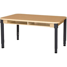 Four Seater High Pressure Laminate Desk with Adjustable Steel Legs - 48