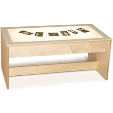 Large Wooden LED Light Table with Acrylic Top - 42.5