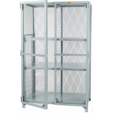 Welded Storage Locker with 2 Adjustable Center Shelves - 24''W x 48''D