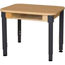 Classroom High Pressure Laminate Desk with Adjustable Steel Legs - 24