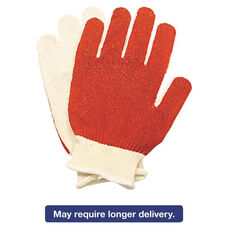 North Safety® Smitty Nitrile Palm Coated Gloves - White/Red - Medium - 12 Pairs