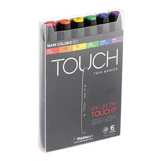 ShinHan Art TOUCH Twin 6-Piece Main Colors Marker Set