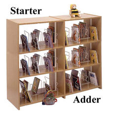 3-Shelf Double Sided Picture Book Bookcase Starter