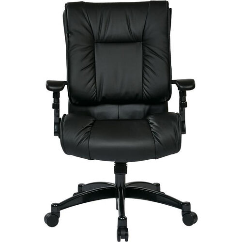 Our Space Black Eco Leather Conference Chair with Cantilever Arms and Pillow Top Seat and Back - Black is on sale now.