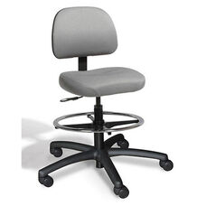 Dimension Small Back Mid-Height Drafting ESD Chair - 2 Way Control