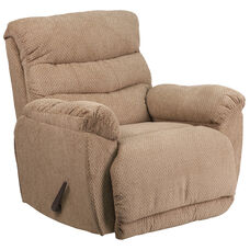 Contemporary Natilda Mocha Fabric Rocker Recliner