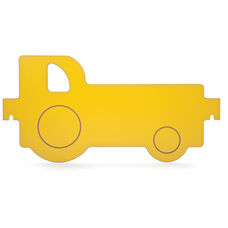 Yellow Melamine Room Divider Tractor Panel
