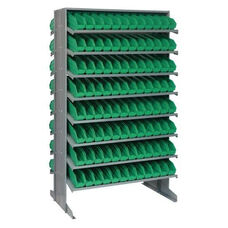 Sloped Shelving Double Sided Pick Rack Unit with 192 Bins - Green