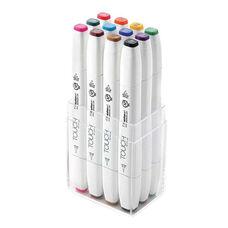 ShinHan Art TOUCH Twin Brush 12-Piece Main Colors Marker Set