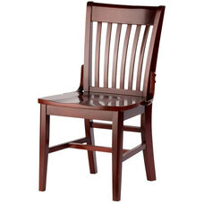Henry Armless Guest Chair - Wood Seat