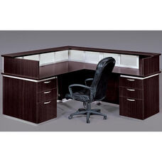 Pimlico Flat Pack Right Reception Desk - Mocha