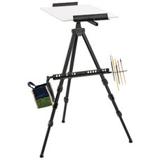 Champlain Aluminum Watercolor Easel with Secure Leg Locks and Pivoting Rubber Feet
