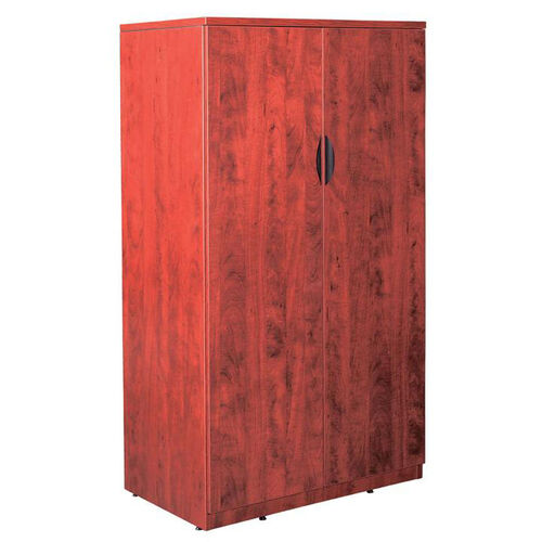 Cherry Tall Storage Cabinet with Lock
