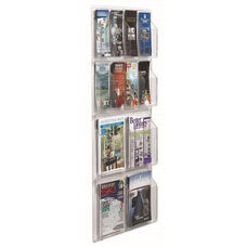 Clear-VU Combination Pamphlet and Magazine Display - 8 Pamphlets and 4 Magazines