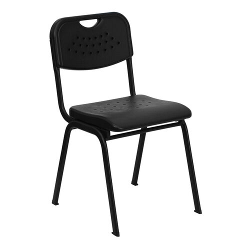 Our HERCULES Series 880 lb. Capacity Black Plastic Stack Chair with Open Back and Black Frame is on sale now.