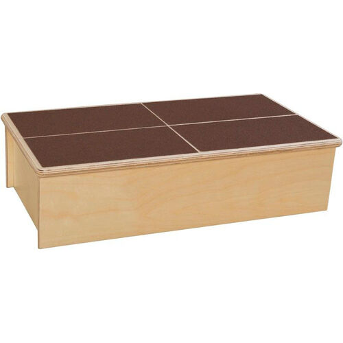 Wooden Childs Step Stool with Brown No-Slip Tread - 23