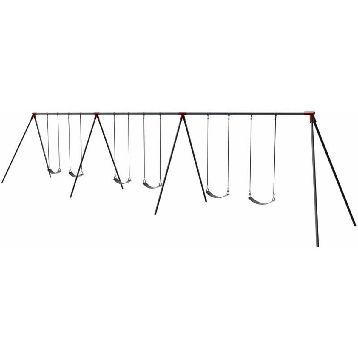 6 Seat Primary Bipod Swing Set 581-618X | SchoolFurniture4Less.com
