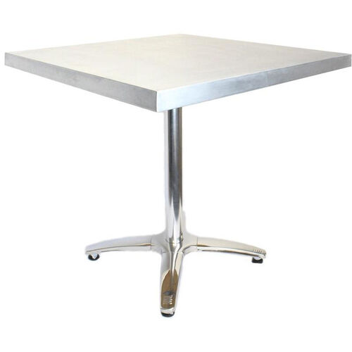 Rectangular Zinc Table with Stainless Steel Base - 24