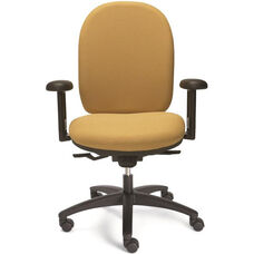 Seatwise Tall Back Task Chair with Contoured Seat and Back