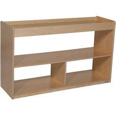 Versatile Wooden Mobile 2 Shelf Backless Storage Unit - 48