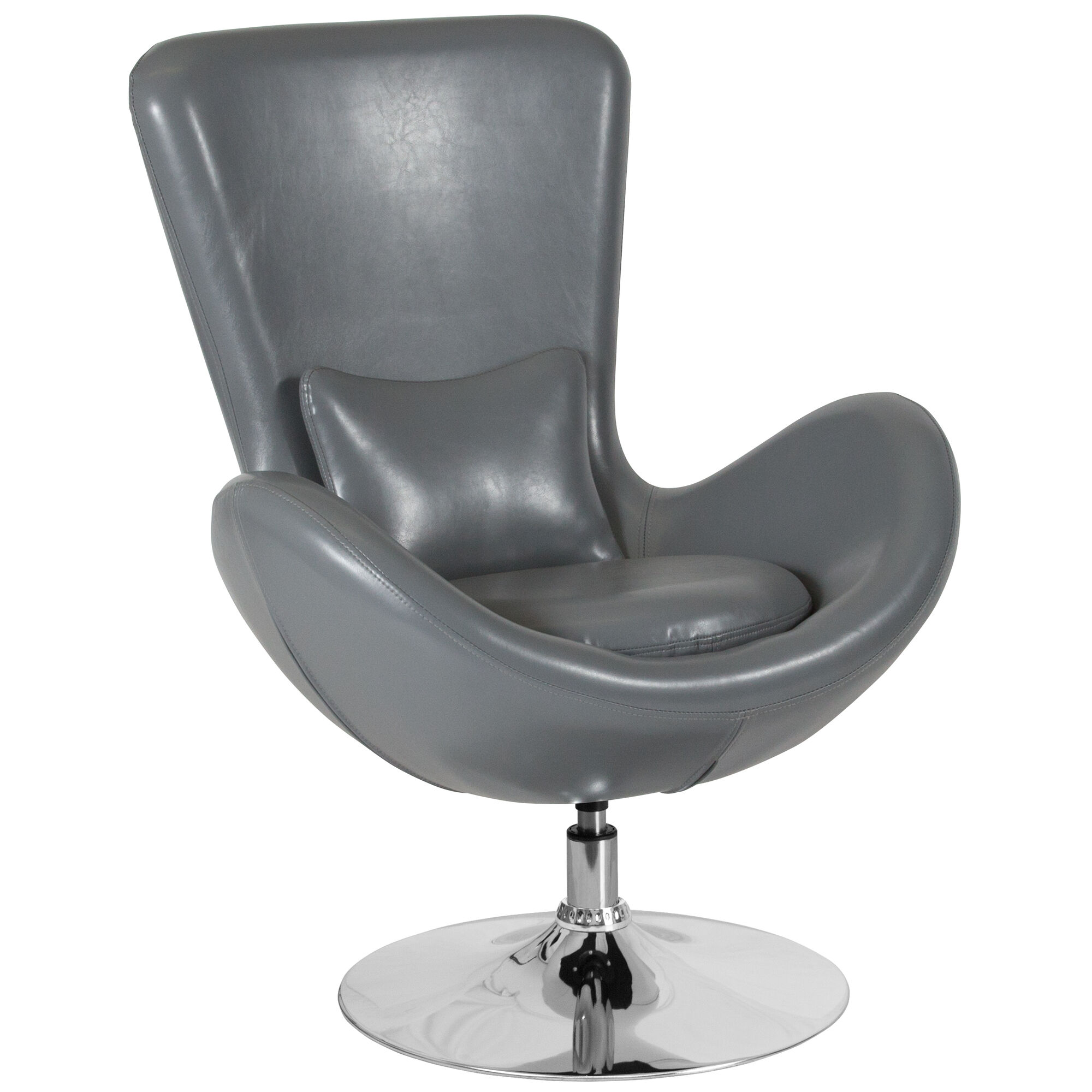 Gray leather egg series chair ch 162430 gy lea gg for Furniture 4 schools