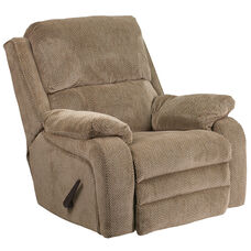 Contemporary Gazette Thistle Fabric Rocker Recliner
