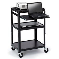 Three-Shelf Adjustable AV Notebook Cart - 24