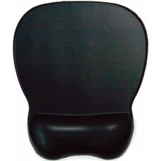 Soft Skin Gel Mouse Pad with Wrist Rest - Black
