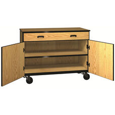 Denali 1000 Series Mobile Low Storage Cabinet with Doors, 1 Full-width Drawer, and 1 Adjustable Shelf