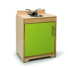 Contemporary Birch Laminate Sink in Vibrant Green