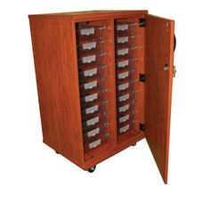 20 Tote Tray Storage Solution with Door with Casters - 28