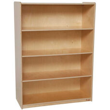 Wooden 4 Fixed Shelf Bookcase with Plywood Back - 36