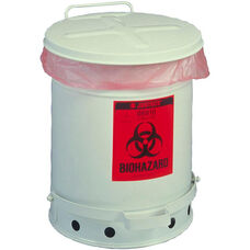 SoundGard™ 6 Gallon Biohazard Waste Cans - White