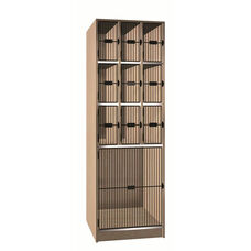 10 Compartment Storage w/Grill Doors