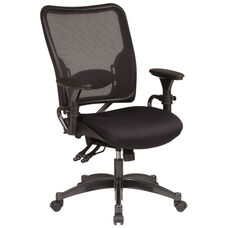 Space Dual Function Air Grid Back with Mesh Seat Managers Chair - Black