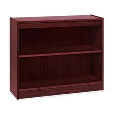 Lorell 2 Shelf Panel Bookcase - 36''W x 12''D x 30''H - Mahogany