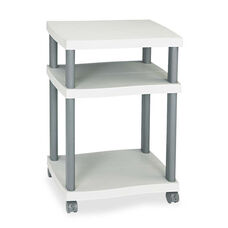 Safco® Wave Design Printer Stand - Three-Shelf - 20w x 17-1/2d x 29-1/4h - Charcoal Gray