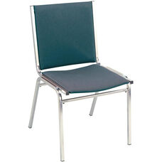 Quick Ship 400 Series Stacking Square Steel Frame Armless Hospitality Chair with Full Back and 1'' Upholstered Seat