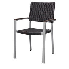 Fiji Dining Arm Chair with Powder Coated Aluminum Frame - Espresso