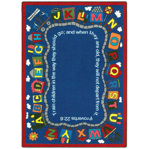 Our Bible Train Rug is on sale now.