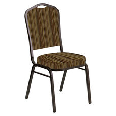 Crown Back Banquet Chair in Canyon Amber Fabric - Gold Vein Frame