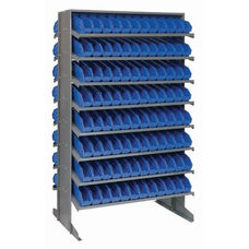 Sloped Shelving Double Sided Pick Rack Unit with 192 Bins - Blue