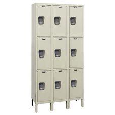 Quiet Stock Locker Three-Wide Triple-Tier Locker Unassembled - 36