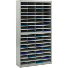 E-Z Stor® 71'' H Seventy-Two Letter Size Compartment Literature Organizer - Gray