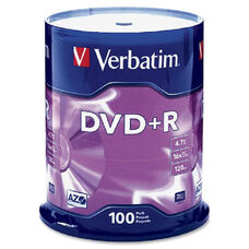 Verbatim Dvd+R Discs - Pack Of 100