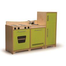 Modern Birch Laminate Kitchen Combo in Vibrant Green