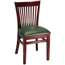 Elongated Vertical Slat Back Chair