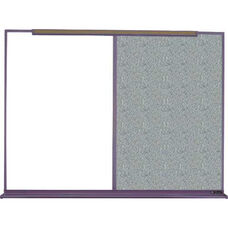 800 Series Aluminum Frame Combination Markerboard and Tackboard - Claridge Cork - 96