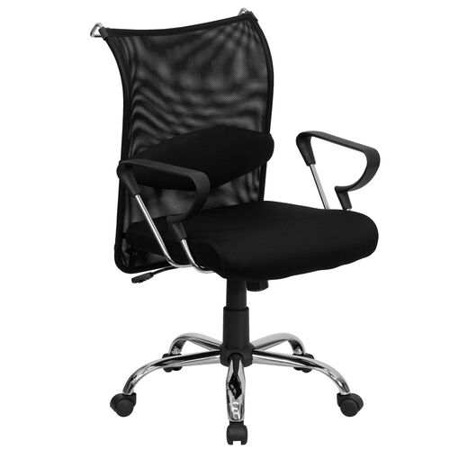 Mid-Back Black Mesh Swivel Manager