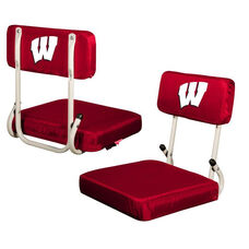 University of Wisconsin Team Logo Hard Back Stadium Seat